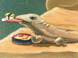 コモドドラゴン + 握り寿司